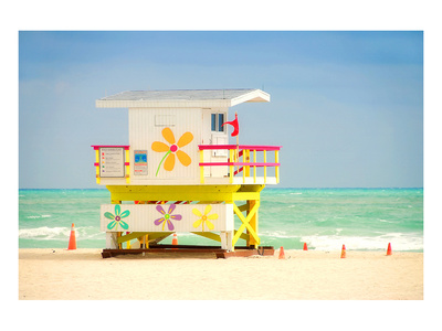 Lifeguard tower in Miami Beach Prints