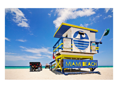 Lifeguard House Miami Beach Poster