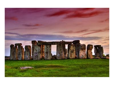 Stonehenge Sunset Amesbury UK Prints