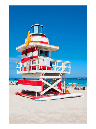 Lifeguard Tower South Beach FL Art