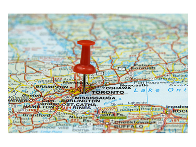 Pin Pointing At Toronto Canada Prints