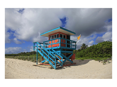 Miami Lifeguard Station Poster