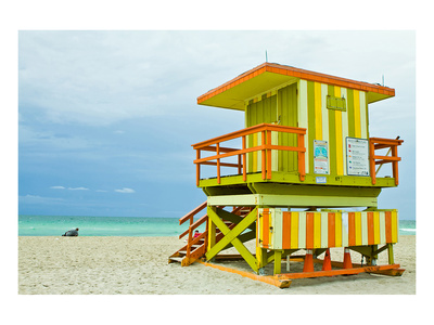 Lifeguard Tower South Beach FL Prints