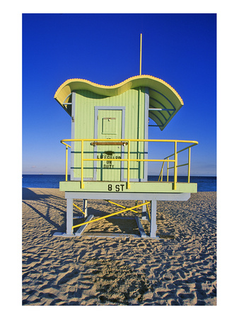 Lifeguard House South Beach FL Posters
