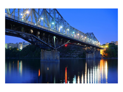 Ottawa with illuminated Bridge Prints