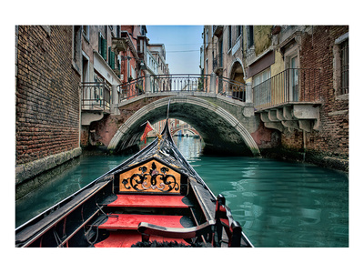 Gondola in small Canal Venice Posters