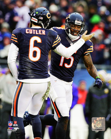 Brandon Marshall & Jay Cutler 2014 Action Photo