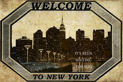 Welcome To New York Plastic Sign