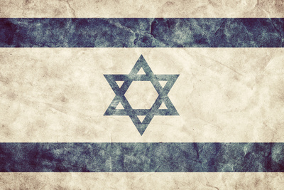 Israel Grunge Flag. Vintage, Retro Style. High Resolution, Hd Quality. Item from My Grunge Flags Co Photographic Print by PHOTOCREO Michal Bednarek