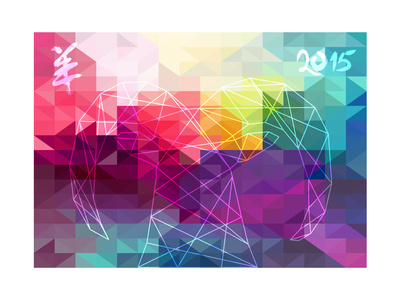 Chinese New Year of the Goat 2015 Abstract Illustration Konst av  cienpies