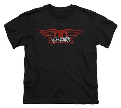 Youth: Aerosmith - Winged Logo T-Shirt