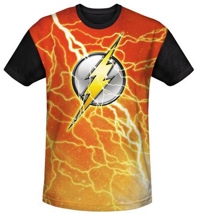 Youth: The Flash - Lightning Logo(black back) T-Shirt