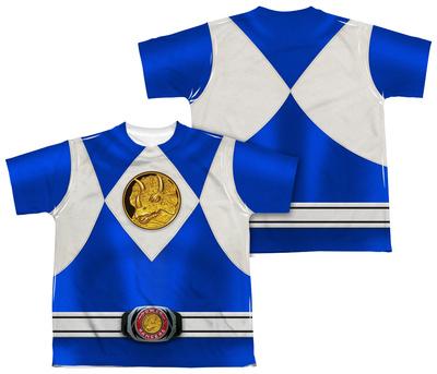 Youth: Power Rangers - Blue Ranger Emblem (Front/Back Print) Shirts