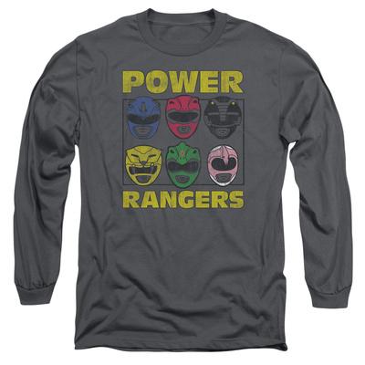 Long Sleeve: Power Rangers - Ranger Heads T-shirts