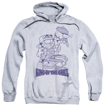 Hoodie: Garfield - King Of The Grill Pullover Hoodie
