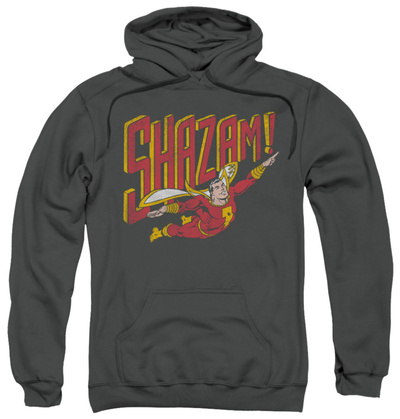 Hoodie: Shazam - Retro Marvel Pullover Hoodie