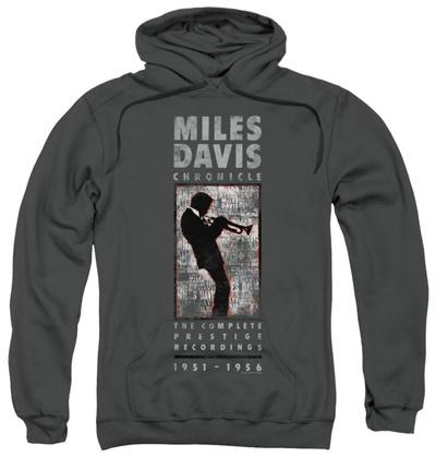 Hoodie: Miles Davis - Miles Silhouette Pullover Hoodie