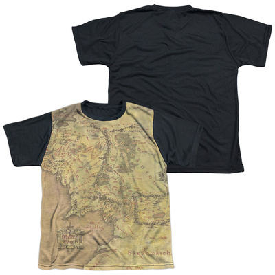 Youth: The Lord Of The Rings: The Fellowship Of The Ring - Middle Earth Map(black back) Shirts