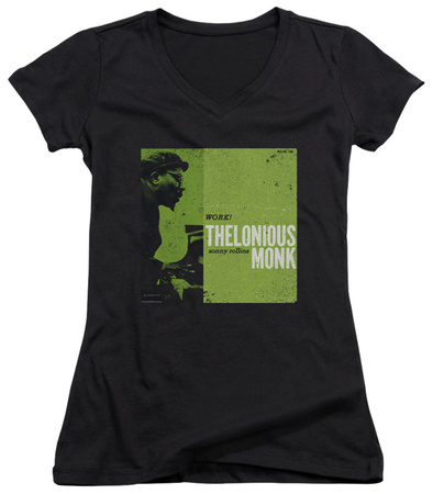 Juniors: Thelonious Monk - Work V-Neck Womens V-Necks