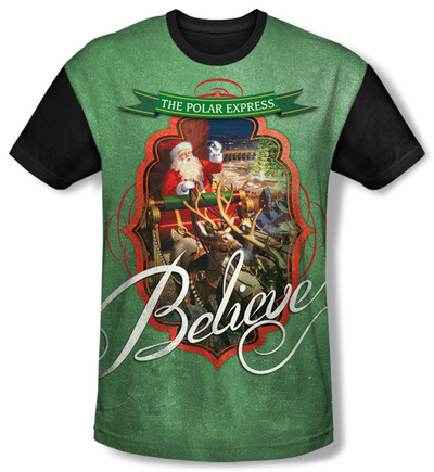 Youth: Polar Express - Santa(black back) T-shirts