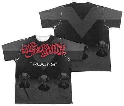 Youth: Aerosmith - Rocks (Front/Back Print) T-shirts