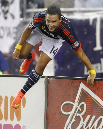 Sep 7, 2014 - MLS: Chicago Fire vs New England Revolution - Diego Fagundez Photo by Stew Milne