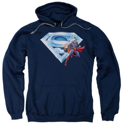 Hoodie: Superman - Superman & Crystal Logo Pullover Hoodie