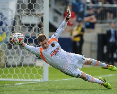 Apr 19, 2014 - MLS: Houston Dynamo vs Philadelphia Union - Zac MacMath Photo by John Geliebter
