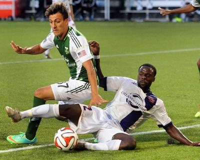 2014 MLS US Open Cup: Jun 17, Orlando City U23s vs Portland Timbers - Maximiliano Urruti Photo by Steve Dykes