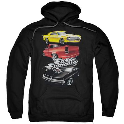 Hoodie: Fast & Furious - Muscle Car Splatter Pullover Hoodie
