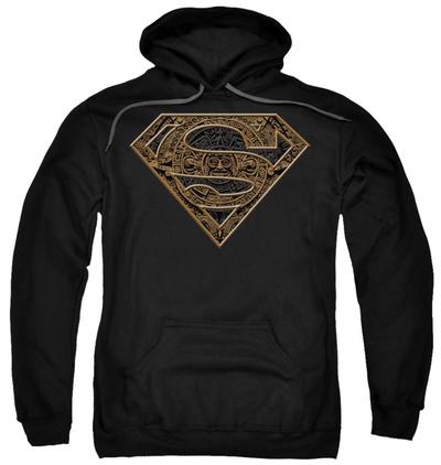 Hoodie: Superman - Aztec Shield Pullover Hoodie