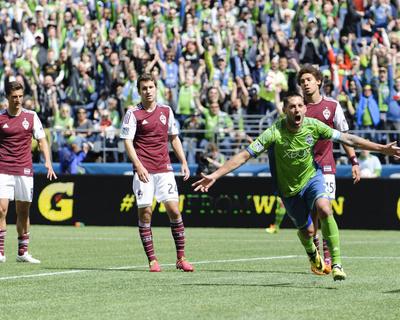 Apr 26, 2014 - MLS: Colorado Rapids vs Seattle Sounders - Clint Dempsey Photo by Steven Bisig