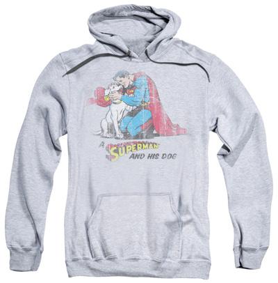 Hoodie: Superman - And His Dog Pullover Hoodie