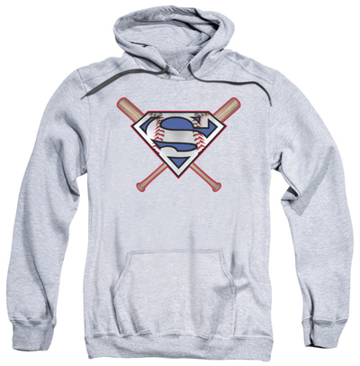 Hoodie: Superman - Crossed Bats Pullover Hoodie