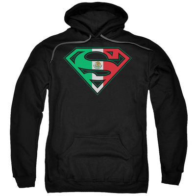 Hoodie: Superman - Mexican Flag Shield Pullover Hoodie