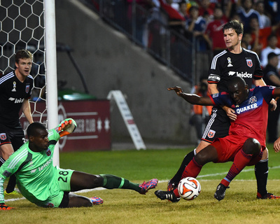 Sep 20, 2014 - MLS: D.C. United vs Chicago Fire - Bill Hamid, Bakary Soumare Photo by Mike Dinovo