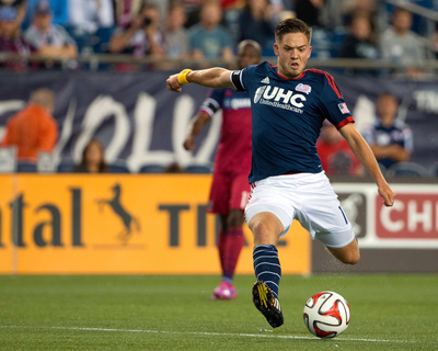 Sep 7, 2014 - MLS: Chicago Fire vs New England Revolution - Kelyn Rowe Photo by Winslow Townson