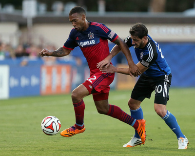 Jul 23, 2014 - MLS: Chicago Fire vs San Jose Earthquakes - Matt Watson Photo by Kelley L Cox
