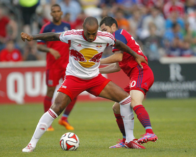 Aug 10, 2014 - MLS: New York Red Bulls vs Chicago Fire - Razvan Cocis, Thierry Henry Photo by Dennis Wierzbicki