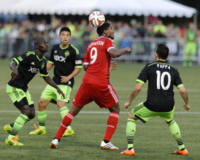2014 MLS U.S. Open Cup: Jun 24, San Jose Earthquakes vs Seattle Sounders - Khari Stephenson Photo by Steven Bisig