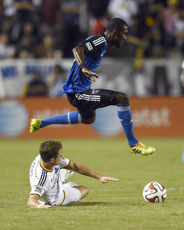 Aug 8, 2014 - MLS: San Jose Earthquakes vs Los Angeles Galaxy - Robbie Rogers, Shaun Francis Photo by Kelvin Kuo