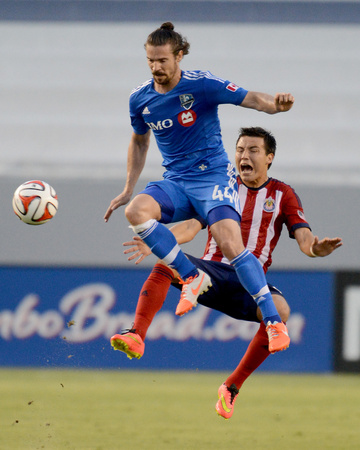 Jul 5, 2014 - MLS: Montreal Impact vs Chivas USA - Erick Torres, Heath Pearce Photo by Jayne Kamin-Oncea