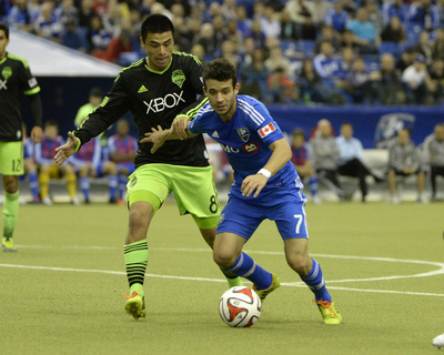 Mar 23, 2014 - MLS: Seattle Sounders vs Montreal Impact - Felipe Martins Photo by Eric Bolte