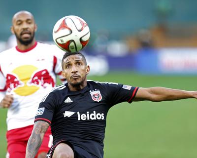 2014 MLS Playoffs: Nov 8, New York Red Bulls vs D.C. United - Thierry Henry, Sean Franklin Photo by Geoff Burke