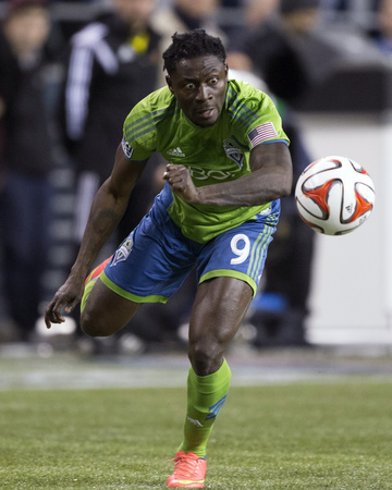 2014 MLS Playoffs: Nov 10, FC Dallas vs Seattle Sounders - Obafemi Martins Photo by Joe Nicholson