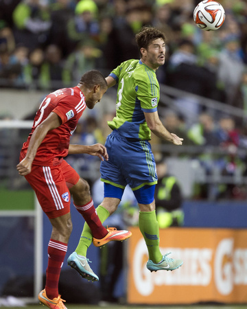 2014 MLS Playoffs: Nov 10, FC Dallas vs Seattle Sounders - Brad Evans Photo by Joe Nicholson