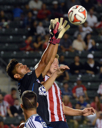 Aug 3, 2014 - MLS: FC Dallas vs Chivas USA - Raul Fernandez, Eriq Zavaleta Photo by Jayne Kamin-Oncea
