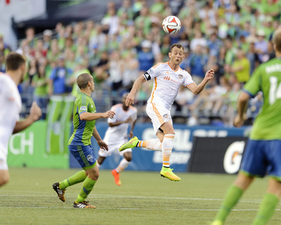 Aug 10, 2014 - MLS: Houston Dynamo vs Seattle Sounders - Brad Davis Photo by Steven Bisig