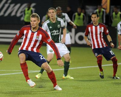 Apr 12, 2014 - MLS: Chivas USA vs Portland Timbers - Will Johnson, Eriq Zavaleta Photo by Steve Dykes