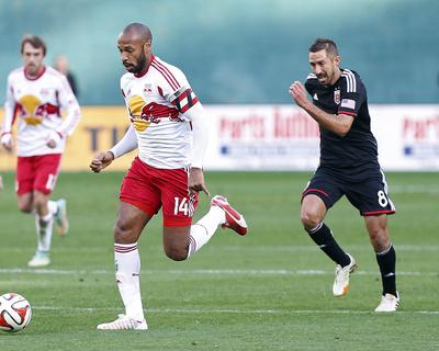 2014 MLS Playoffs: Nov 8, New York Red Bulls vs D.C. United - Davy Arnaud, Thierry Henry Photo by Geoff Burke